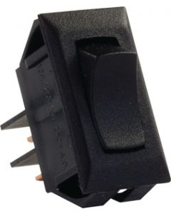 JR Products 12V Mom-On/Off Switch Black - Momentary-On/Off Switch