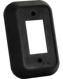 JR Products Spcr For Single Face Plate Blk