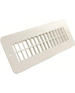 JR Products 2X10In Plstc Flr Reg Undamp Pw - Plastic Floor Registers