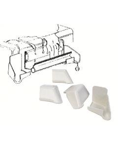 JR Products Polar Wht Raingutter Four Pack - Rain Gutter Spout