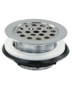 JR Products Strainer Shower Grid Chrome - Strainer W/Grid