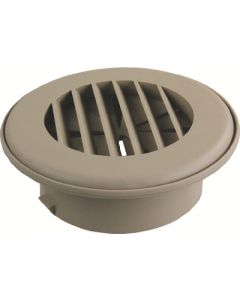 JR Products Heat Vent 4In Dampered Tan - Thermovent Ducted Heat Vents