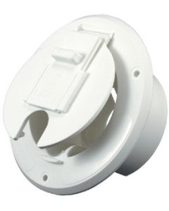 JR Products Round Cable Hatch Polar White - Cable Hatch