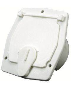 JR Products Square Cable Hatch Polar White - Cable Hatch