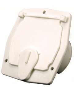 JR Products Square Cable Hatch Off/Wht - Cable Hatch