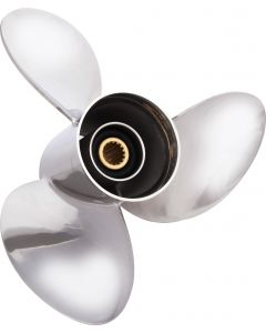 """Solas HR Titan  13.88"""" x 21"""" pitch Standard Rotation 3 Blade Stainless Steel Boat Propeller"""
