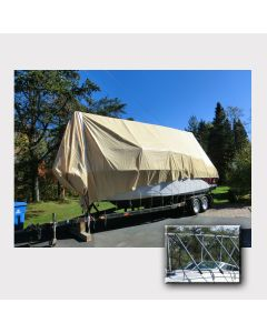 Navigloo Boat Shelter for 25 ft. - 28 ft 6 in. Runabout Boats