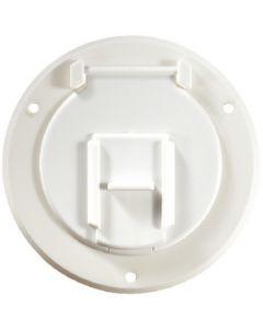 RV Designer Cable Hatch-Round Pw 4.3 X2.3