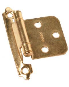 RV Designer Hinge-Self Closing Brass 2/Pk - Self Closing Hinge