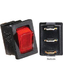 RV Designer Switch-Ill Rocker 20A Blk W-Rd