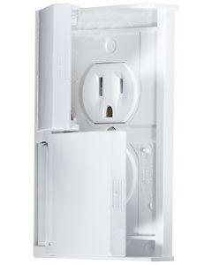 RV Designer Outlet Dual W-Cvr White