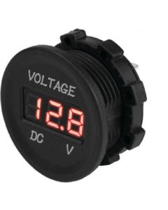 SeaDog 421615 Round Digital 4 to 30 Voltage Meter Injected Molded Nylon