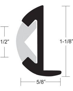"""Taco Marine Rub Rail, 1-1/8""""H x 5/8""""W x 12'L"""