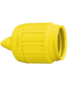 Hubbell HBL60CM31 Yellow Seal-Tite Cover for Weatherproofing HBL26CM11 Plug