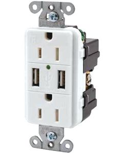 Hubbell Usb Tamper Resistant Receptacle Charger