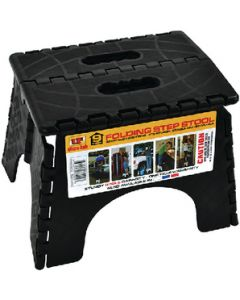 Step-9In Plastic Folding Black - Folding Step Stool