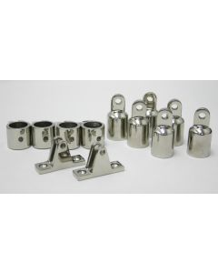 Westland® 3-Bow Tops STAINLESS STEEL FITTINGS (FOR ALUMINUM FRAME)