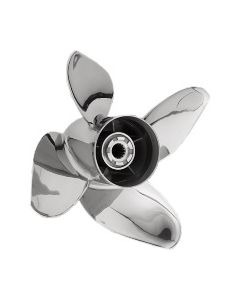 "Honda Marine PowerTech Performance  15.25"" x 23"" pitch Standard Rotation 4 Blade Stainless Steel Boat Propeller"