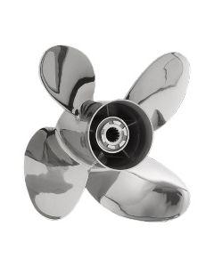 "Honda Marine PowerTech  15.25"" x 19"" pitch Counter Rotation 4 Blade Stainless Steel Boat Propeller"