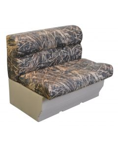 "Wise Scout Series 36"" Camo Pontoon Bench, Shadow Grass Vinyl"