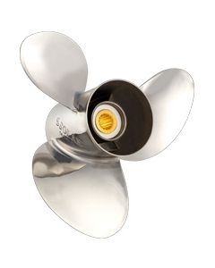 """Solas New Saturn  11.38"""" x 12"""" pitch Standard Rotation 3 Blade Stainless Steel Boat Propeller"""