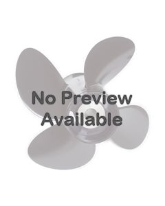 "Evinrude Johnson 10"" x 7"" pitch Standard Rotation 4 Blade Aluminum Boat Propeller"
