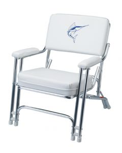 Garelick Anodized Frame Deck Chair with Weatherproof Sewn Cushions
