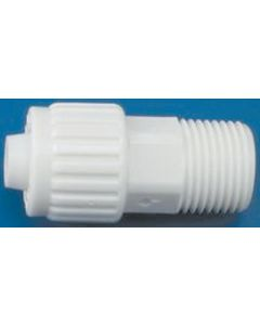 Elkhart Supply Co 1/2 X1/2  Mpt Male Adapter - Flared- Cone & Nut Fittings