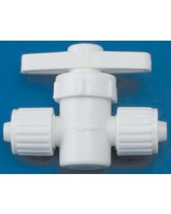 Elkhart Supply Co 3/8 X3/8  Straight Valve - Flared- Cone & Nut Fittings