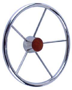 Seachoice Destroyer 15 Steering Wheel, Stainless Steel