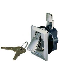 Seachoice Flush Mount Door Latch Lock 2 1/4 x 2 , Chrome Plated Zinc