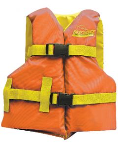 Seachoice Life Vest, Youth, 25 -29 , Orange/Yellow