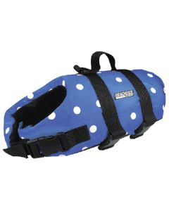 Seachoice Dog Vest Blue Polka