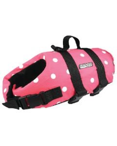 Seachoice Dog Vest Pink Polka Xxs To 6Lb