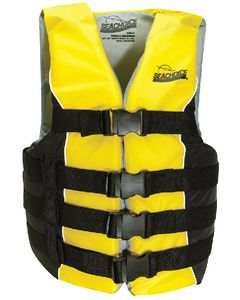 "Seachoice Life Vest, 32"" to 40"", Navy Blue/Gold"