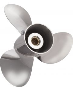 """Solas New Saturn  11.13"""" x 13"""" pitch Standard Rotation 3 Blade Stainless Steel Boat Propeller"""