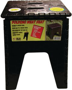 "B & R Plastics Inc 15In Neat Seat Black - 15"" Folding Neat Seat"