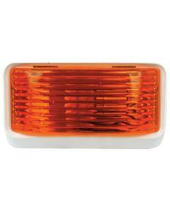 Porch Ligt Sq W/O Swtch Amber - Rectangular Porch/Utility Light