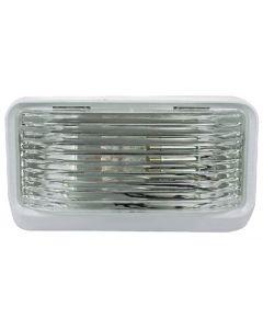Porch Lght Sq W/O Swtch Clear - Rectangular Porch/Utility Light