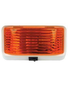 Porch Lght Sq W/Swtch Amber - Rectangular Porch/Utility Light
