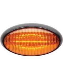Led Porch Oval Blk Base Amber - Led Oval Porch Light