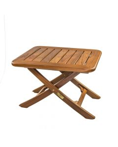 Whitecap Teak Small Adjustable Slat Top Table