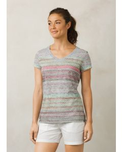 Prana Women's Short Sleeve Portfolio V-Neck Top