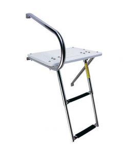 Garelick 2 Step Outboard Transom Platform & Telescoping Boat Ladder