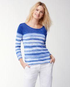 Tommy Bahama Women's Shibori Print Linen Sweater