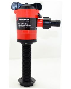 "Johnson Pumps Straight 500 GPH Cartridge Livewell Aerator Pump; 3/4"" Dia. Inlet, Single 3/4"" Dia. outlet"