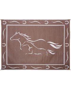 Mat-Horses 8'X11' Brown-White - Reversible Mats, Themed
