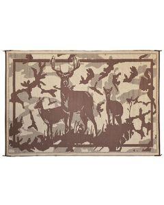 Mat-Deer 8' X11' Camo Brown - Reversible Mats, Themed