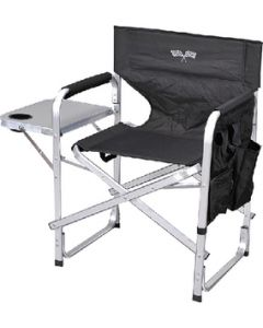 Ming's Mark Deluxe Camping Chair Blk/Flag - Folding Director'S Chair