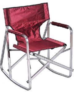 Ming's Mark Camping Chair Rocker Burgundy - Rocking Director'S Chair